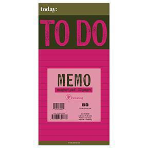 Undated To Do Memo Magnet Pad Pink - TF Publishing