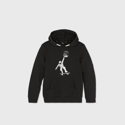 Boys' Astro Skate Hoodie Sweatshirt - art class™ Black