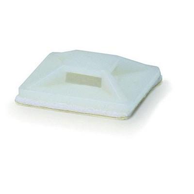 Monoprice Cable Tie Mounts - 20x20mm - White | 100 Pcs/Pack
