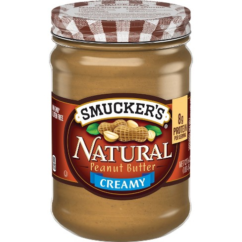 smucker s natural creamy peanut butter 16oz target