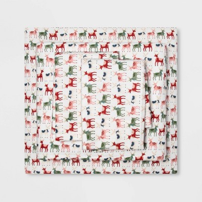 Holiday Print Flannel Sheet Set - Wondershop™