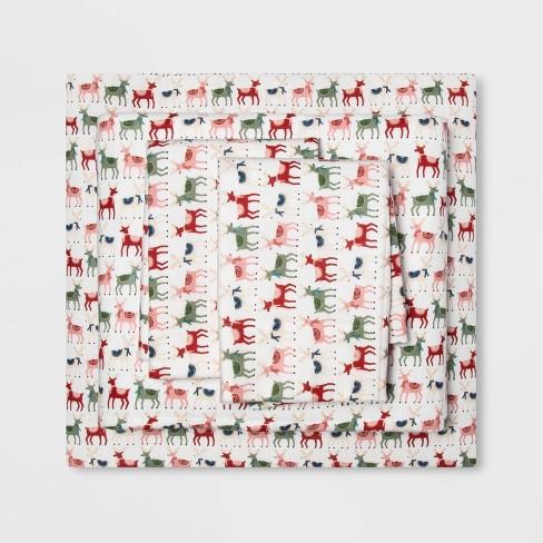 Holiday Print Flannel Sheet Set - Wondershop™ - image 1 of 1