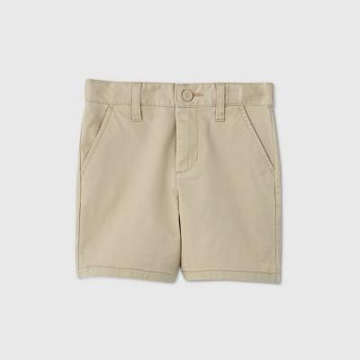Toddler Boys' Flat Front Stretch Uniform Shorts - Cat & Jack™ Khaki