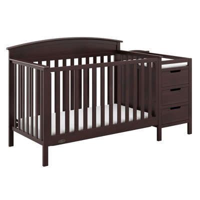 Graco Benton 4-in-1 Convertible Crib and Changer - Espresso