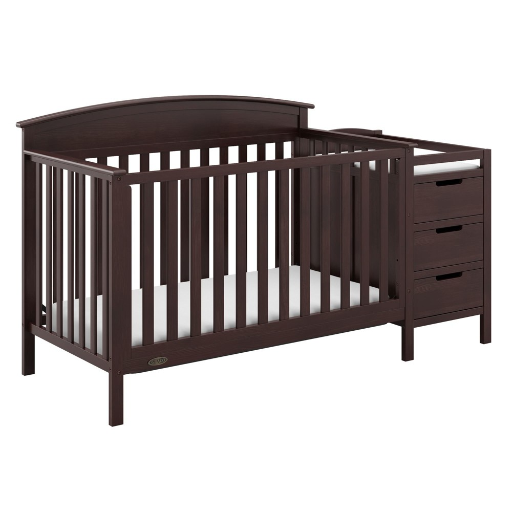 Image of Graco Benton 4-in-1 Convertible Crib and Changer - Espresso, Brown