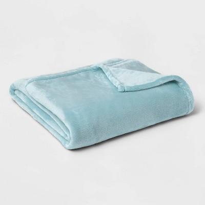 Twin/Twin XL Microplush Bed Blanket Aqua - Threshold™