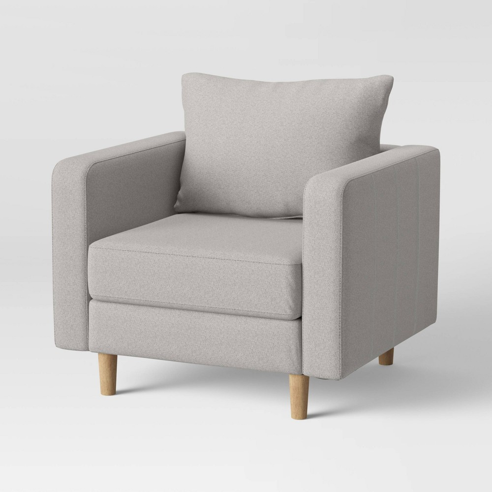 Jacobs Large Scale Mid Century Modern Armchair Gray Project 62 8482