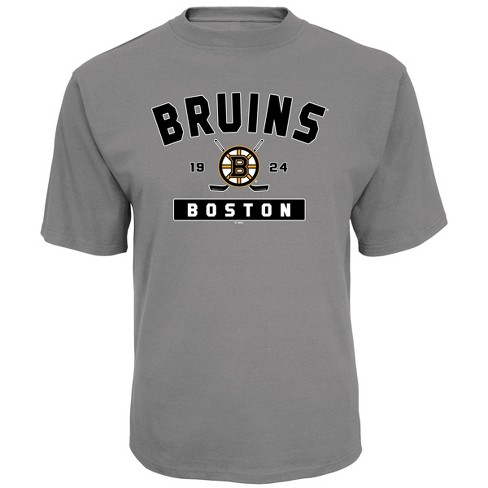 big sale ef72a 1a37a NHL Boston Bruins Men's Center Ice Gray T-Shirt