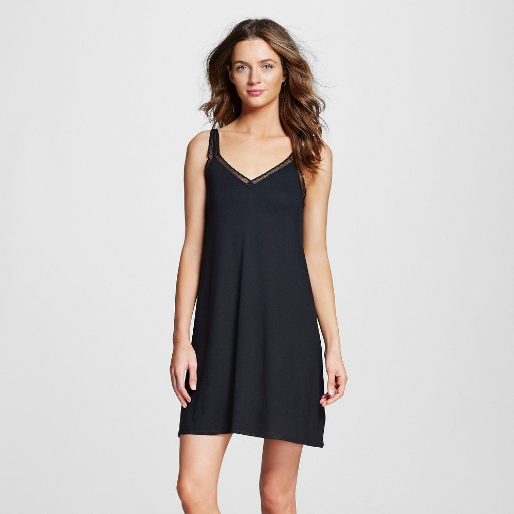 Women's Pajama Fluid Knit Nightgown Black M
