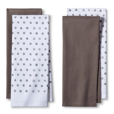 4pk Gray&nbspShapes&nbspKitchen Towel&nbsp - Room Essentials™