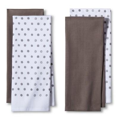 4pk Gray Shapes Kitchen Towel   Room Essentials™