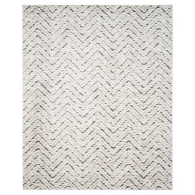 8'x10' Adirondack Chevron Rug Ivory/Charcoal - Safavieh