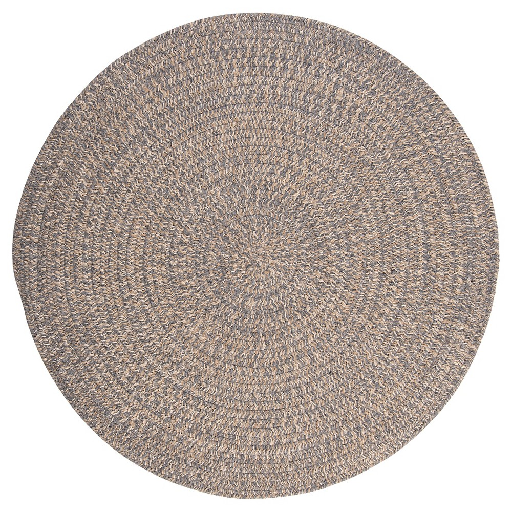 Tremont Braided Accent Rug - Gray - (4' Round) - Colonial Mills