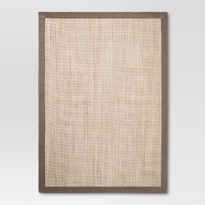 Tan Solid Woven Accent Rug - (2'6 X4')- Threshold™