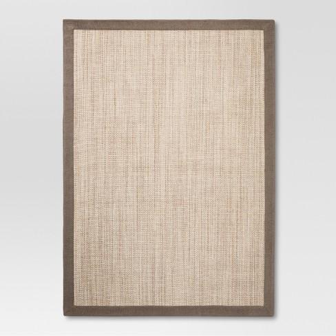 Solid Woven Border Rug - Threshold™ - image 1 of 1