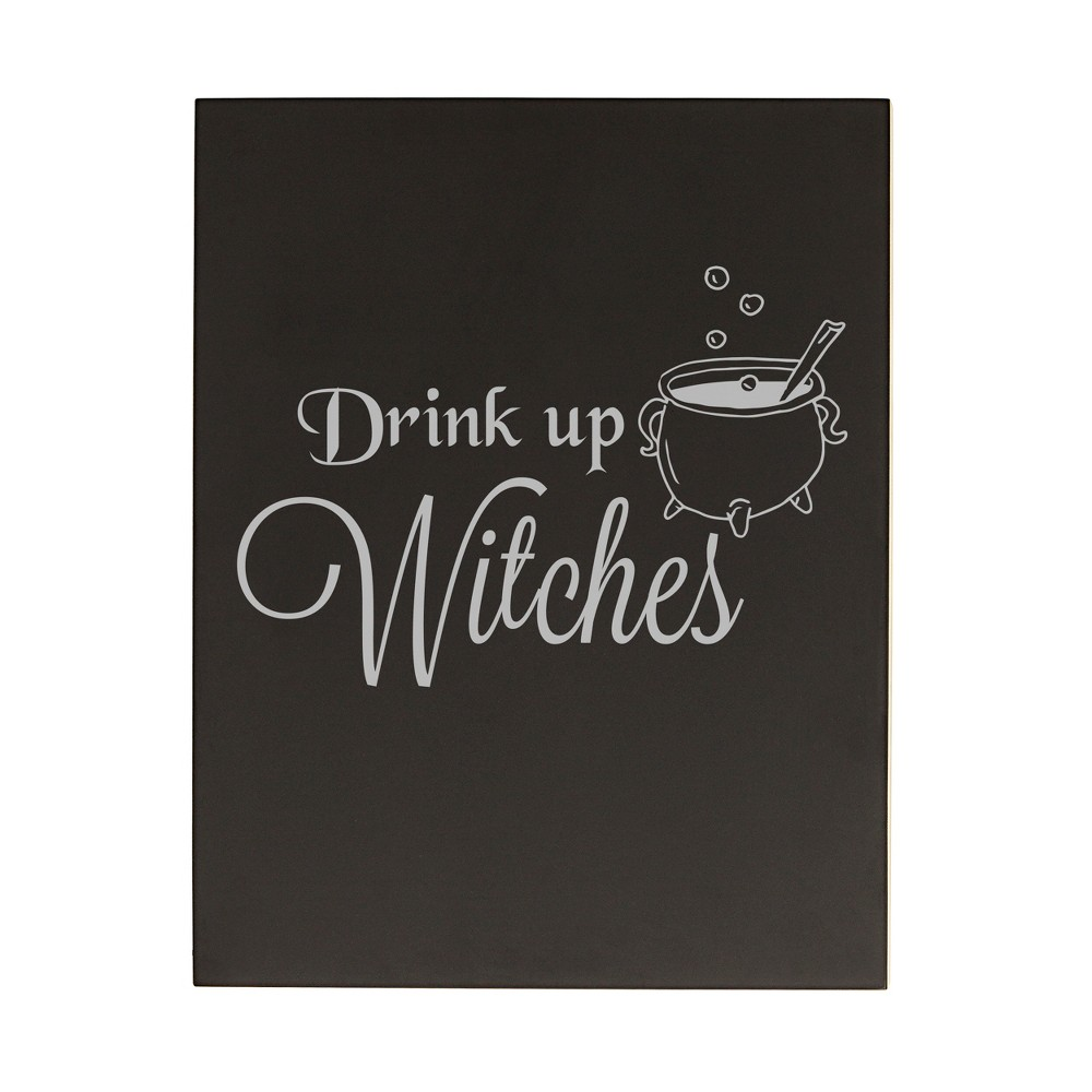 Halloween Drink Up Witches Chalkboard, Black