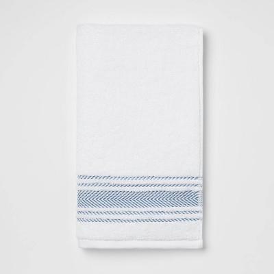 Performance Hand Towel Dark Blue Stripe - Threshold™