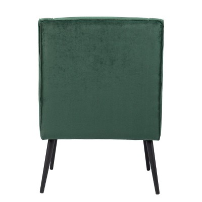 Cainish Upholstered Accent Chair Green/Black - Aiden Lane : Target
