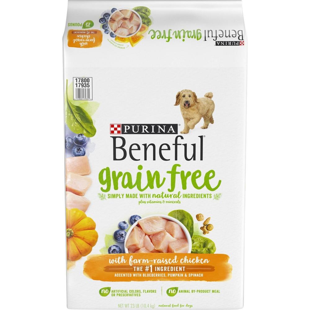 Purina Beneful Grain Free With Farm Raised Chicken Dry Dog Food 23lbs