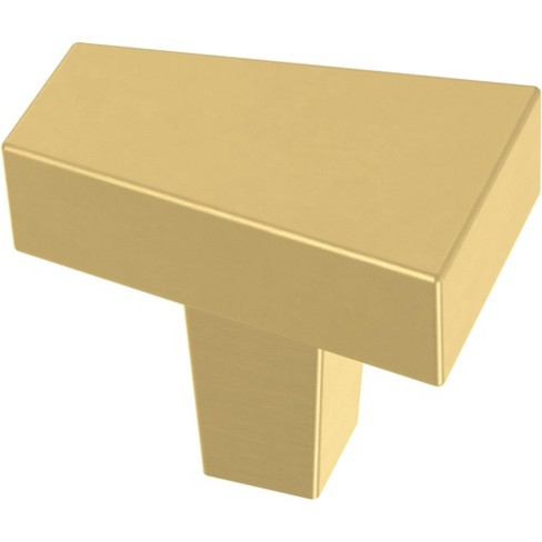 "Franklin Brass P40830K Angled 1-3/16"" Geometric Cabinet Knob - Pack of 10 - image 1 of 1"