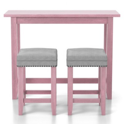 3pc Rockland Dining Set with USB Plug Antique Pink - HOMES: Inside + Out