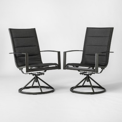 Superieur Avalon 2pk Sling Swivel Rocker Patio Dining Chair Black   Project 62™
