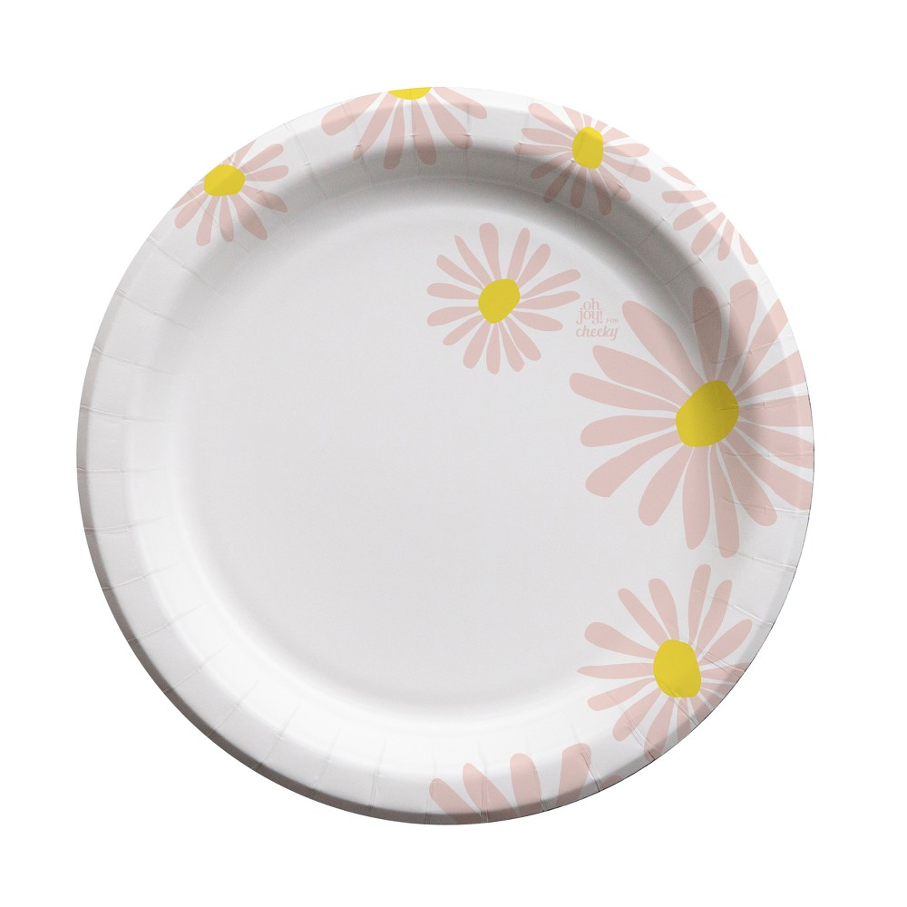 Oh Joy! for Cheeky Pink Daisies 10 Paper Plates - 20ct, Multi-Colored