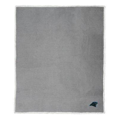 NFL Carolina Panthers Waffle Sherpa Throw Blanket