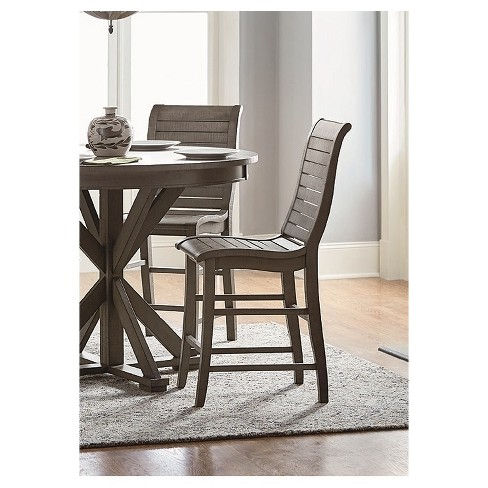 Willow Counter Chair (2/Ctn)- Distressed Dark Gray - Progressive Furniture - image 1 of 1