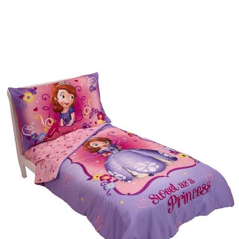 Sofia Friends Are Magic 4 Piece Toddler Bedding Set Disney
