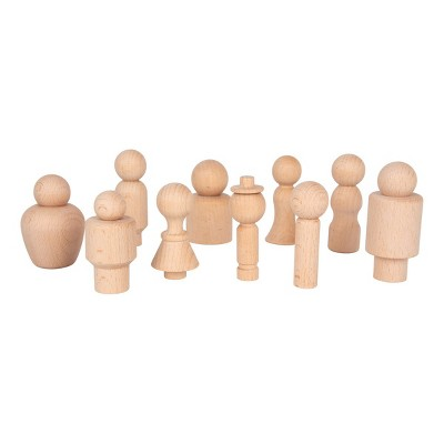 Learning Advantage Natural Wood Figures - 10 Pieces