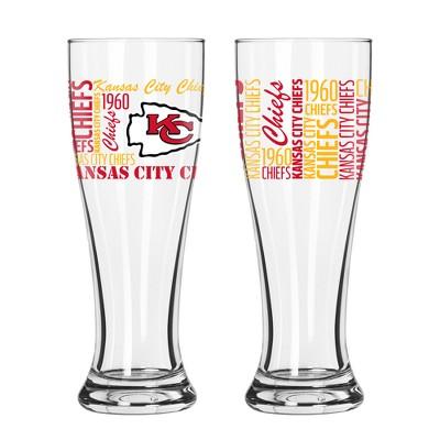 Kansas City Chiefs 2pk Spirit Pilsner Glasses