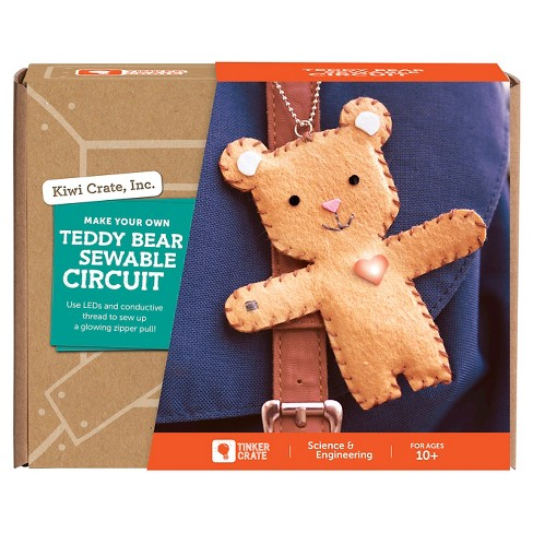 Kiwi Crate Make Your Own Teddy Bear Sewable Circuit - image 1 of 1
