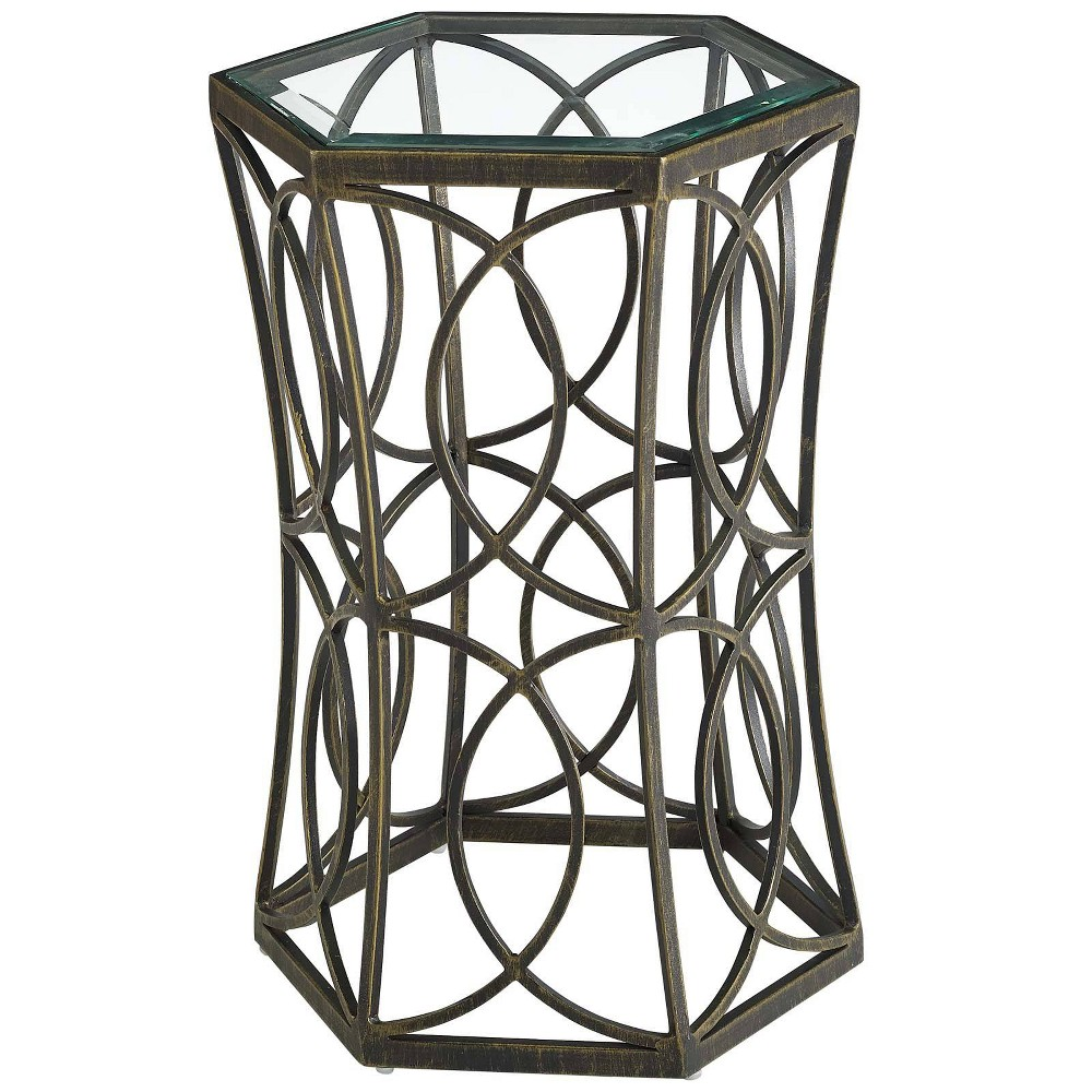 "Image of ""15.5"""" Circle Side Table Gold - Modway"""