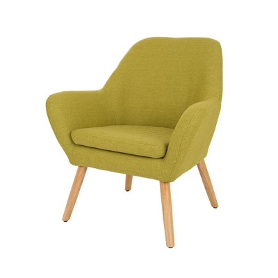 Beau MidCentury Modern Oversized Accent Chair Lime   Glitzhome