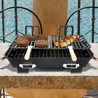 Panacea Products Marsh Allen Cast Iron Hibachi Tabletop Charcoal BBQ Grill - 30052