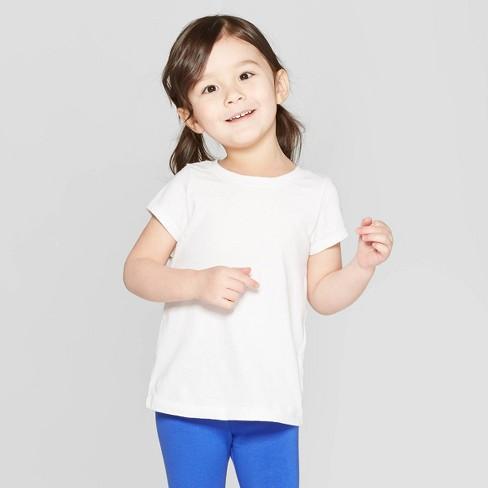Toddler Girls' Short Sleeve T-Shirt - Cat & Jack™ White - image 1 of 3
