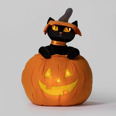Animated Cat Popping Out of Pumpkin Halloween Decorative Prop - Hyde & EEK! Boutique™