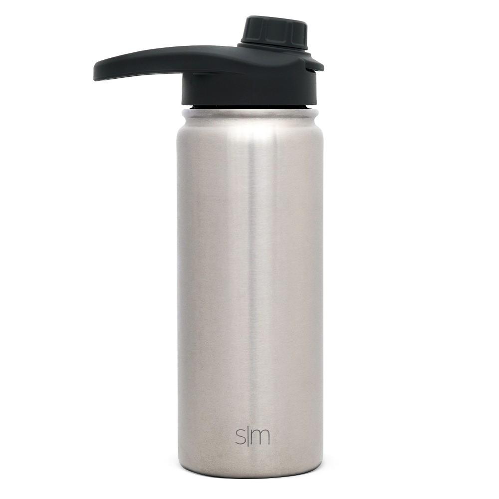 Simple Modern 18oz Stainless Steel Water Bottle Silver