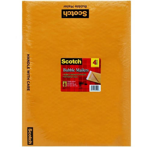Scotch™ Bubble Mailer, Kraft, 12.5 in x 18 in Size #6, 4-Pack - image 1 of 1