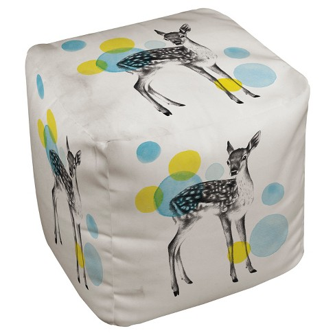 "Deer Print Pouf (18""X18""X18"") - Thumbprintz - image 1 of 1"