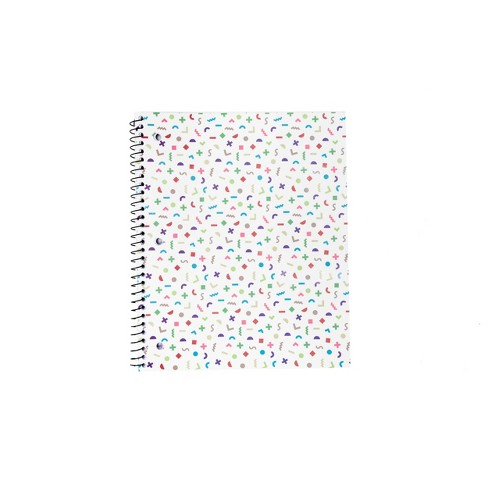 Spiral Notebook 1 Subject College Ruled White Shapes - West Emory - image 1 of 3