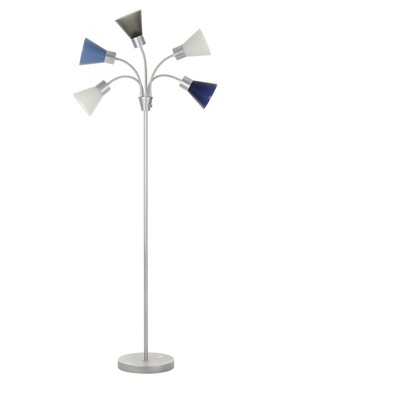 5-Head Floor Lamp Blue Includes Energy Efficient Light Bulb - Room Essentials™