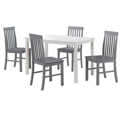 5pc Modern Two-Toned Kitchen Dining Set - Saracina Home