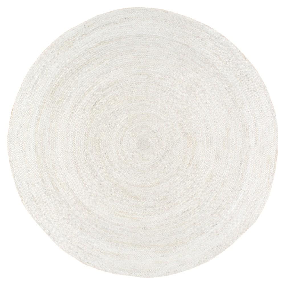 nuLOOM Hand Woven Rigo Jute Area Rug - White (8' Round), Off White