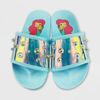 Girls' Disney The Little Mermaid Slide Sandals - Pink - Disney Store