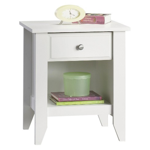 Shoal Creek Nightstand with Drawer & Storage Shelf - Soft White - Sauder - image 1 of 1