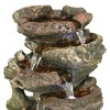 """Sunnydaze Indoor Decorative Calming 5-Step Rock Falls Waterfall Tabletop Water Fountain with LED Lights - 14"""" - image 4 of 4"""