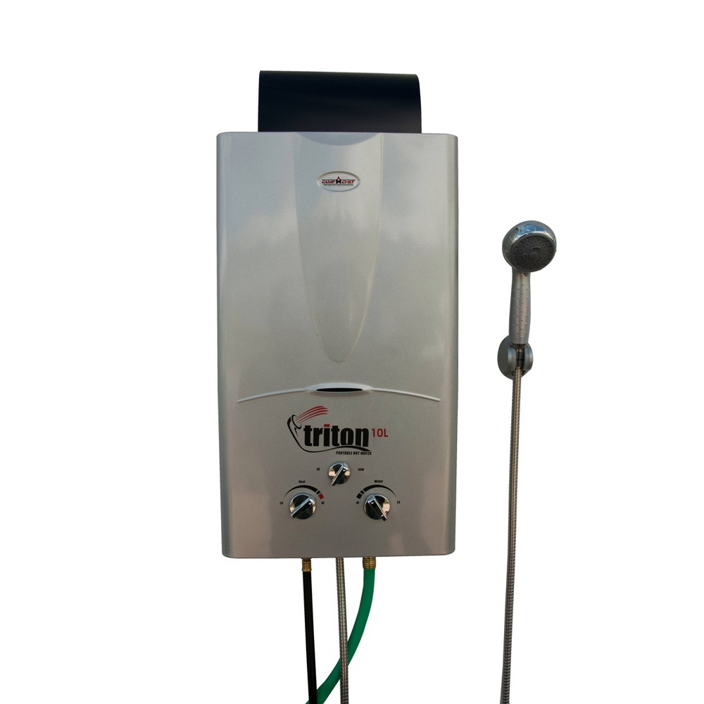 Image of Camp Chef Triton Portable Water Heater - Aluminum, Silver