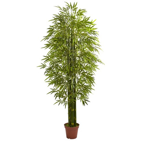 7'H Bamboo Artificial Tree UV Resistant (Indoor/Outdoor) - Nearly Natural - image 1 of 1